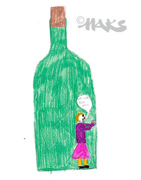 Mama in der Flasche